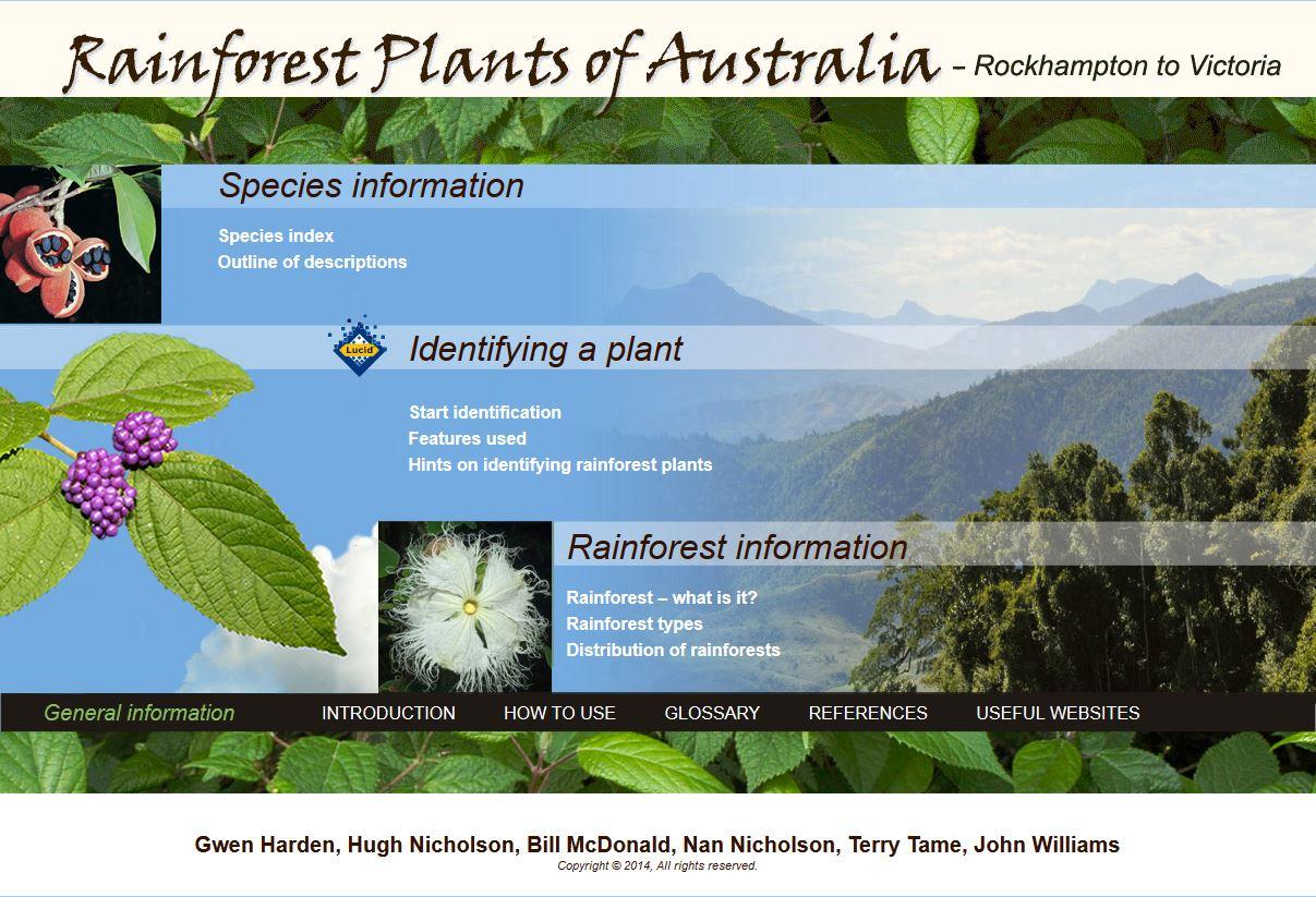 Rainforest Plants of Australia – Interactive Identification Key